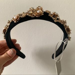 NWT Topshop Black and gold Headband